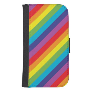 Rainbow colors phone wallet cases