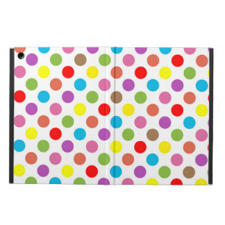 Rainbow colors polka dots pattern cover for iPad air