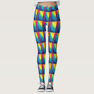 Rainbow Colors Pop Fashion Leggings