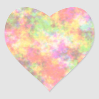 Rainbow Colors. Pretty, Colorful Clouds. Heart Sticker