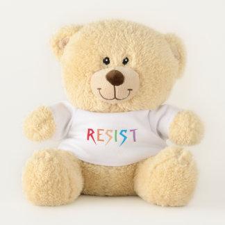 Rainbow Colors Resist Teddy Bear