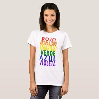 Rainbow Colors T-shirt (Spanish)