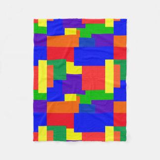 Rainbow Colors Texture Abstract Fleece Blanket