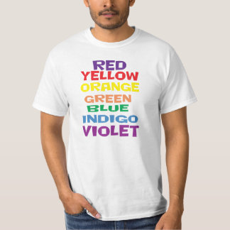Rainbow colors that are confused. Are you? T-Shirt