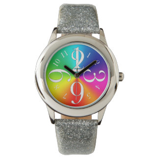 Rainbow colors watch