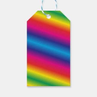 Rainbow Coloured Gift Tags