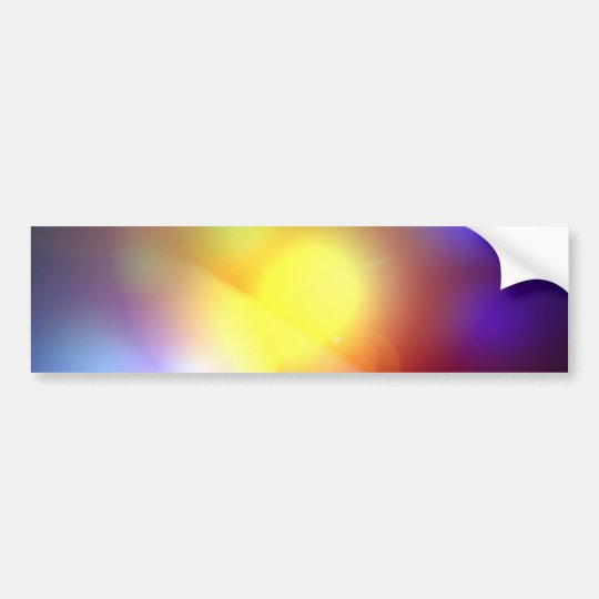 Rainbow Coloured Lens Flare Bumper Sticker