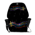 Rainbow Coloured Music Notes Commuter Bag