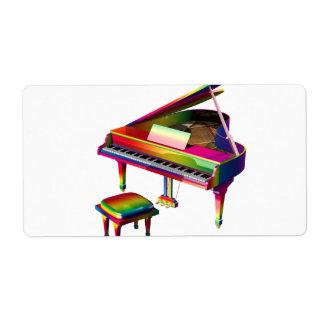 Rainbow Coloured Piano