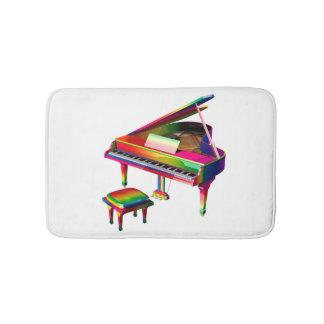 Rainbow Coloured Piano Bath Mat