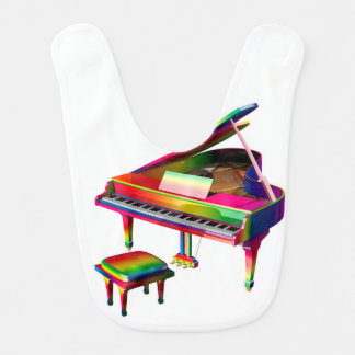 Rainbow Coloured Piano Bib