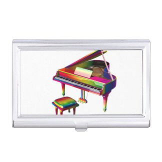 Rainbow Coloured Piano Business Card Holder