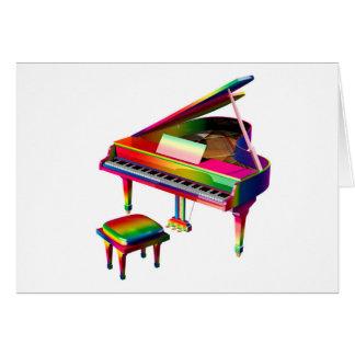 Rainbow Coloured Piano Card