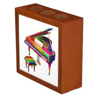 Rainbow Coloured Piano Desk Organizer