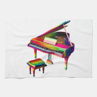 Rainbow Coloured Piano Kitchen Towel