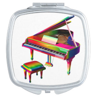 Rainbow Coloured Piano Mirrors For Makeup