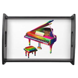 Rainbow Coloured Piano Serving Tray