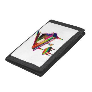 Rainbow Coloured Piano Tri-fold Wallet