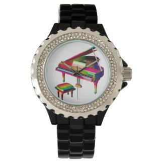 Rainbow Coloured Piano Wristwatches