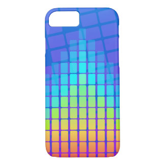 Rainbow Coloured Pyramid of Rectangles iPhone 7 Case