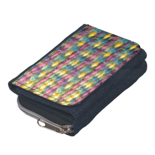 rainbow coloured weave design wallet