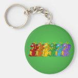 Rainbow colourful dragons cartoon Keychain