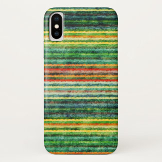 Rainbow Colourful Stripes Grunge Case-Mate iPhone Case