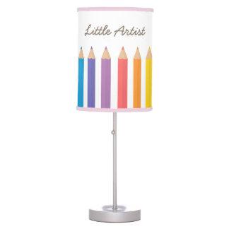 Rainbow Colouring Pencils School Kids Room Decor Table Lamps