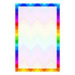 Rainbow Colours #2 Large Chevron ZigZag Pattern Custom Stationery