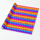 Rainbow Colours #2 LG Chevron Brt Red Name Wrapping Paper