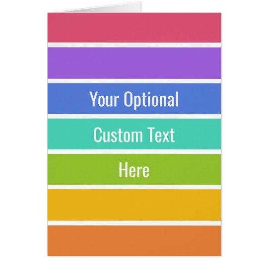 Rainbow Colours custom greeting card
