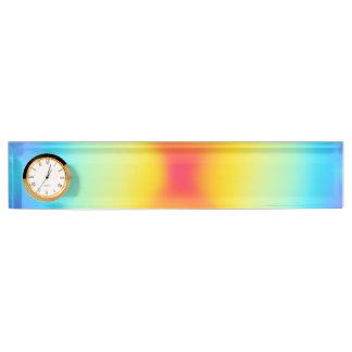 rainbow colours desk name plate
