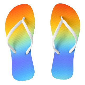 rainbow colours flip flops