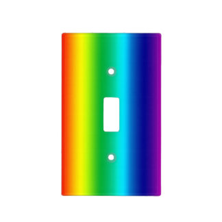 Rainbow Colours Light Switch Cover