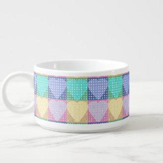 Rainbow colours love hearts bowl