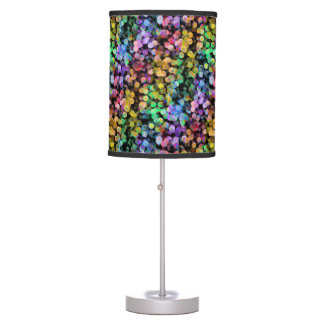 Rainbow Confetti, Colorful, Sequin, Colourful Table Lamp
