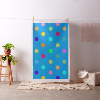 Rainbow confetti polka dots fabric