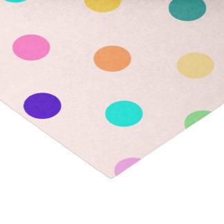 Rainbow confetti polka dots tissue paper