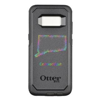 Rainbow Connecticut map OtterBox Commuter Samsung Galaxy S8 Case