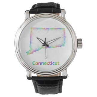 Rainbow Connecticut map Watch