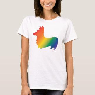Rainbow corgi T-Shirt