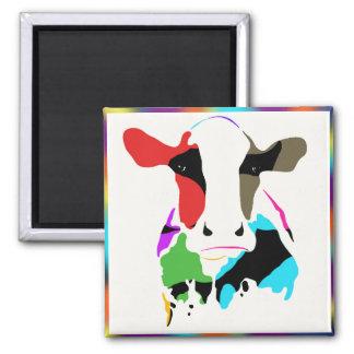 Rainbow Cow Magnet