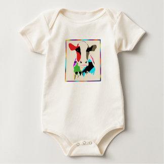 Rainbow Cow Onsie Baby Bodysuit