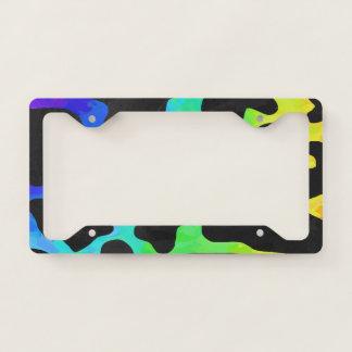 Rainbow Cow Print License Plate Frame