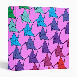 Rainbow cranes folder vinyl binder