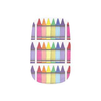 Rainbow Crayon Pride Art Artists Crayons Print Minx Nail Art
