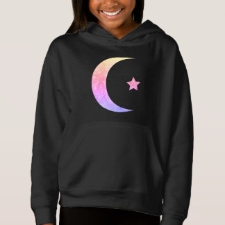 Rainbow Crescent Moon And Star Hoodie