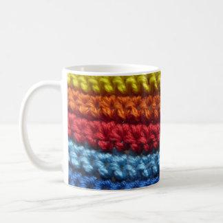 Rainbow Crochet Coffee Mug