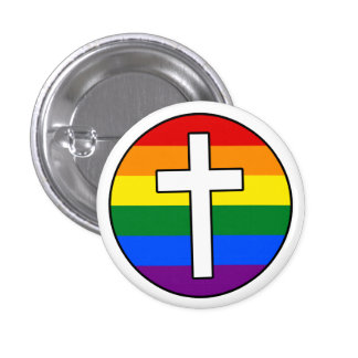 Rainbow Cross Button