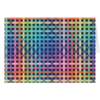 Rainbow Crossed Pattern Card